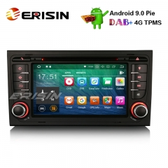 Erisin ES4878A 7' Android 9.0カーステレオDAB + GPS Wifi DVR CD 4G BT AUDI A4 S4 RS4 B7 B9シートEXEO