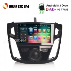 "Erisin ES3895F 9"" Android 8.1 Car Stereo GPS Sat Nav DAB+ DVR WiFi OBD DVB-T2-IN for FORD Focus"