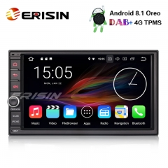 "Erisin ES3641U 7"" Double Din DAB+4G Android 8.1 Car Stereo WiFi DVR DTV OBD SatNav Bluetooth Radio"