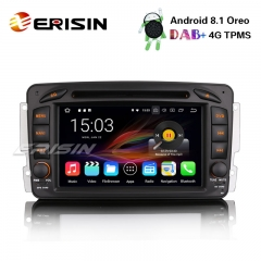 "Erisin ES3657C 7"" Android 8.1 Car Stereo GPS DAB+ 4G CD TPMS Mercedes C/CLK Class W203 W209 Vito Viano"