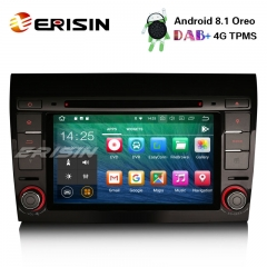 "Erisin ES3871F 7"" Android 8.1 Autorradio GPS DAB+ 4G Wifi Bluetooth USB SD RDS for Fiat Bravo"