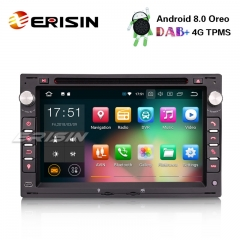 "Erisin ES7886V 7"" Android 8.0 Car Stereo For VW Golf Passat Polo Bora Seat Peugeot 307 DAB+ GPS DVD"