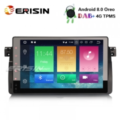"Erisin ES7496B 9"" Android 8.0 BMW 3er E46 M3 Rover75 MG ZT Car Stereo GPS DTV OBD 4G DVR DAB+ TPMS"