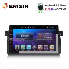 "Erisin ES8296B 9"" BMW 3er E46 320 318 Rover 75 MG ZT DAB+ GPS Android 8.1 Car Stereo Sat Nav SWC"