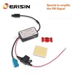 Erisin ES169 Single Fakra Radio Antenna Aerial FM Amplifier for VW/BMW/Mercedes Car Stereos