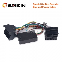 Erisin LF001-T Special CanBus Decoder Box and Power Cable for ES3066F/ES7166F/ES7866F