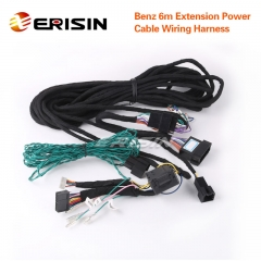 Erisin 6 Meters Extension Power Cable Wiring Harness for Benz