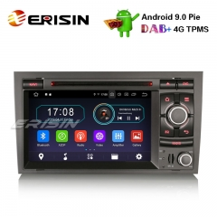 "Erisin ES4974A 7"" DAB + DVD BT Android 9.0カーステレオAUDI A4 S4 RS4座席EXEO GPS WifiラジオSatNav"