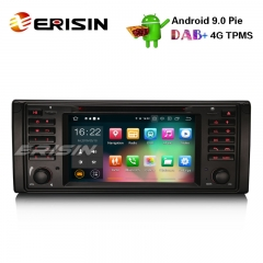 "Erisin ES7939B-64 7"" Android 9.0カーステレオGPS WiFi DAB + DVR OBD SatNav CD BMW 5シリーズE39 E53 X 5 M 5"
