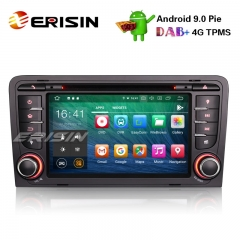 "Erisin ES7947A-64 7"" 8コアAndroid 9.0カーステレオGPS OBD DVR DAB + DTV BT DVD AUDI A3 S3 RS3 RNSE-PU"