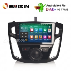 "Erisin ES7995F 9"" Octa-Core Android 9.0 Car Stereo GPS Sat Nav DAB + DVR WiFi OBD DTV FORD Focus"