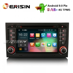 "Erisin ES7978A 7"" Android 9.0カーステレオDAB + GPS Wifi DVR CD 4G BT AUDI A4 S4 RS4 B7 B9シートEXEO"