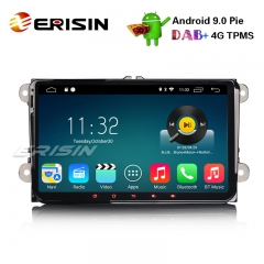 "Erisin ES3518V 9"" DAB+ Android 9.0 Car Stereo GPS For VW Golf Passat Tiguan Polo Jetta Eos SatNav"