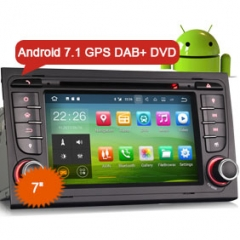 "Erisin ES3778A 7"" Android 7.1 Car Radio DVD Player GPS Navigation Wifi OBD DVR DAB+ for AUDI A4 S4 RS4 B7 B9"