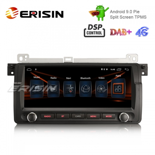"Erisin ES2906B 8.8"" HD Android 9.0カーステレオGPS土曜日Nav DAB + DSP for BMW 3er E46318 M3 Rover75 MG ZT"