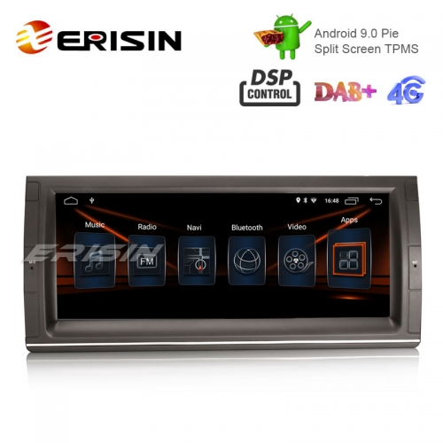 "Erisin ES2903B 10.25"" BMW 5er E39 E53 X5 M5土曜日Nav TPMS / DAB-INのAndroid 9.0車ステレオGPS Wifi DSP"