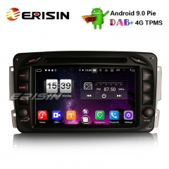 "Erisin ES7716C 7"" 8-Core DAB + Android 9.0 Car Stereo Sat GPS Navi for Mercedes BENZ C / CLK / G Class Vito Viano"