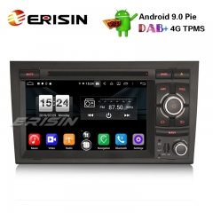 "Erisin ES7738A 7"" Android 9.0車DVDステレオDAB + 4G GPS土曜日Nav for Audi A4 S4 RS4 Seat Exeo"