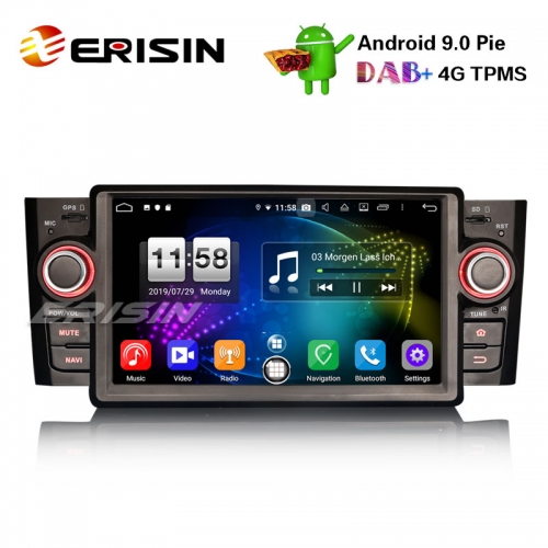 "Erisin ES7723L 7"" DAB + Android 9.0 Car Stereo GPS WiFi DTV 4G Bluetooth OBD for Fiat Punto Linea"