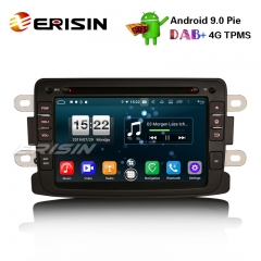"Erisin ES7783D 7"" Android 9.0 Renault Dacia Duster Logan Dokker Lodgy DAB + 4G Wifi Autoradio GPSシステム"