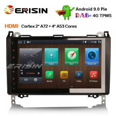"Erisin ES6292B 9"" PX6 Android 9.0 DAB + Autoradio GPS Navi HDMI for Mercedes Benz A / B Classe Sprinter Viano VW Crafter"