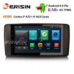 "Erisin ES6285R 9"" PX6 Android 9.0カーステレオGPS DAB +土曜日Nav Wifi HDMI for Mercedes R Class W251"