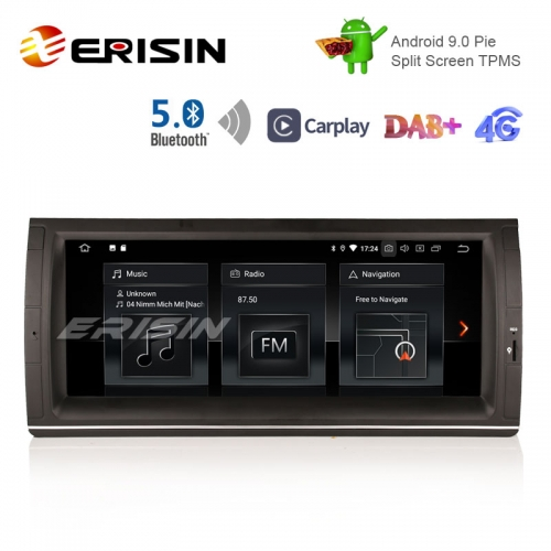 "Erisin ES1253B 10.25"" E53用の新しいAndroid 9.0 Pie OSカーGPS土4G TPMS DAB + BT5.0 CarPlay"