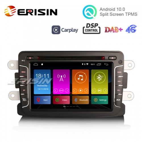 "Erisin ES3029D 7"" DAB + Android 10.0カーラジオGPS CarPlay DSP for Renault Dacia Duster Sandero Dokker Lodgy"