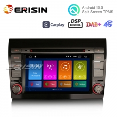 "Erisin ES3071F 7"" Android 10.0 DAB +カーステレオGPS Wifi SatNav OBD DSP TPMS CarPlay for FIAT BRAVO"