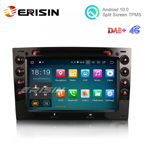 "Erisin ES5113M 7"" RENAULT MEGANE 2003-2010 Android 10.0 Car DVD Player GPS 4G DAB+ Canbus"