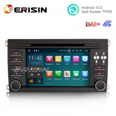 "Erisin ES5197A 7"" Quad-Core Android 10.0 Car DVD GPS Radio WiFi BT TPMS DAB+ 4G for Porsche Cayenne"
