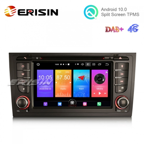 "Erisin ES2706A 7"" Audi A6 S6 Android 10.0 Car DVD Player 4G GPS DAB+ CarPlay+ Radio System"