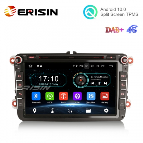 "Erisin ES5985V 8"" Android 10.0 Car Stereo for VW Passat Golf Tiguan Polo T5 Jetta Touran DAB+ CarPlay+ GPS"