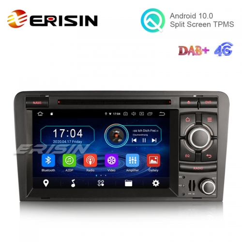 "Erisin ES5973A 7"" Android 10.0 Car Radio DVD GPS System 4G TPMS DAB+ CarPlay+ for Audi A3"