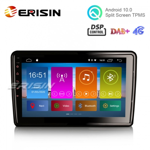 "Erisin ES2921U 10.1"" Android 10.0 Car DVD 2.5D G+G freely rotated Screen DAB+ DSP TPMS GPS Sat Navi"