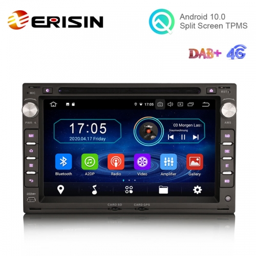 "Erisin ES6986V 7"" Android 10.0 Car Multimedia GPS Radio WiFi BT 4G DVD for VW Sharan Jetta Bora Golf TRANSPORTER"