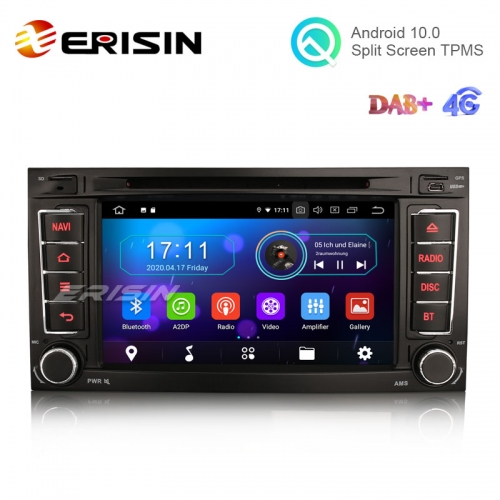 "Erisin ES6956T 7"" Octa-Core Android 10.0 Car DVD Radio for VW TOUAREG T5 Multivan WiFi BT TPMS DVR 4G Canbus"