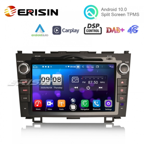 "Erisin ES8759C 8"" Octa-Core Android 10.0 Car DVD GPS Player CarPlay & Auto for HONDA CR-V TPMS/DVR/DTV/DAB-IN..."