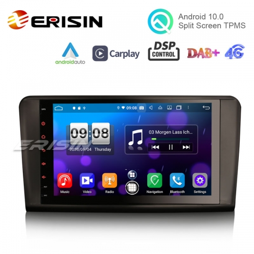 "Erisin ES8794L 9"" Octa-Core Android 10.0 Car Multimedia CarPlay & Auto GPS TPMS DTV for Mercedes Benz ML-Class W164 GL-Class X164"