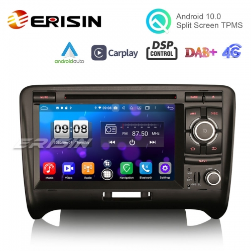 "Erisin ES8739A 7"" DSP Android 10.0 Car DVD CarPlay & Auto GPS 4G DAB+ for Audi TT"